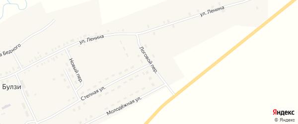 Логовой переулок на карте села Булзи с номерами домов