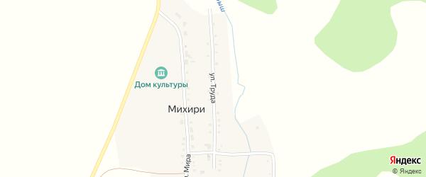 Улица Труда на карте поселка Михири с номерами домов