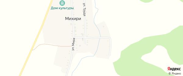 Заречная улица на карте поселка Михири с номерами домов