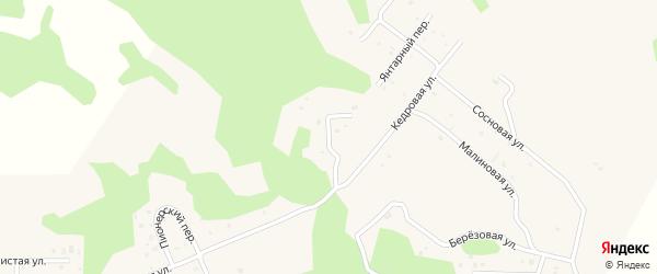 Рябиновая улица на карте деревни Ключи с номерами домов