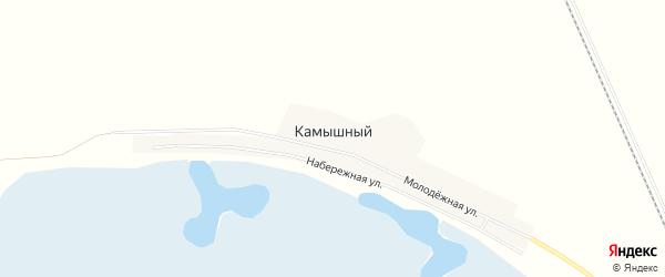 Карта Камышного поселка в Челябинской области с улицами и номерами домов