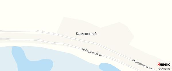 Набережная улица на карте Камышного поселка с номерами домов