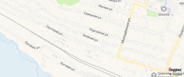 Зеленая улица на карте поселка Полетаево с номерами домов