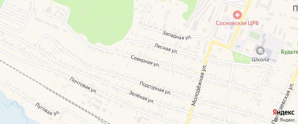Северная улица на карте поселка Полетаево с номерами домов