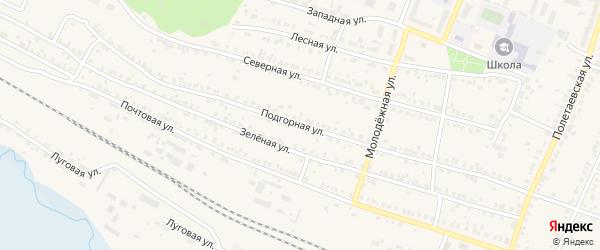 Подгорная улица на карте поселка Полетаево с номерами домов