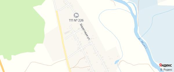 Береговая улица на карте Полетаева 1-е села с номерами домов