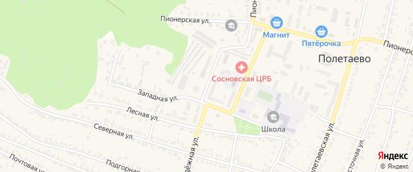 Молодежная улица на карте поселка Полетаево с номерами домов