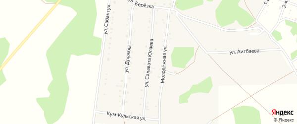 Улица Салавата Юлаева на карте деревни Дербишева с номерами домов