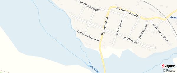 Первомайская улица на карте поселка Полетаево с номерами домов