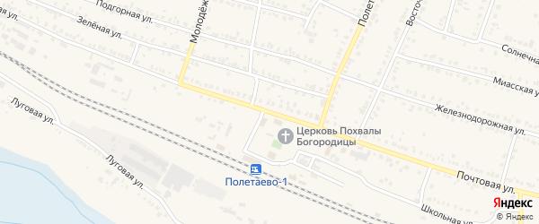 Почтовая улица на карте поселка Полетаево с номерами домов