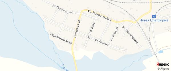 Улица Ленина на карте поселка Полетаево с номерами домов