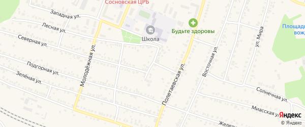 Вокзальная улица на карте поселка Полетаево с номерами домов