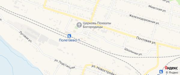 Путейская улица на карте поселка Полетаево с номерами домов