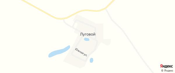 Карта Лугового поселка в Челябинской области с улицами и номерами домов