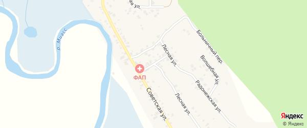 Хоккейный переулок на карте деревни Полетаево 2-е с номерами домов
