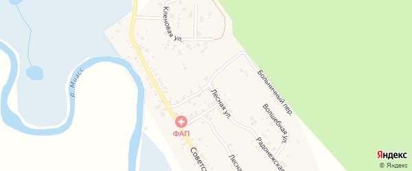 Больничный переулок на карте деревни Полетаево 2-е с номерами домов