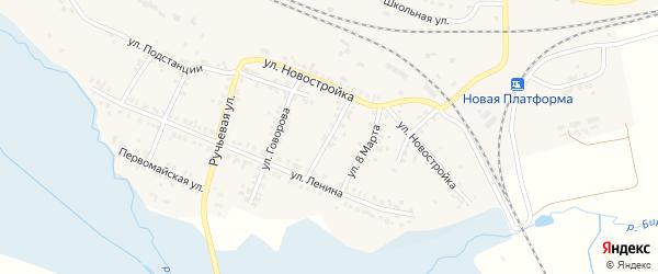 Улица Калинина на карте поселка Полетаево с номерами домов