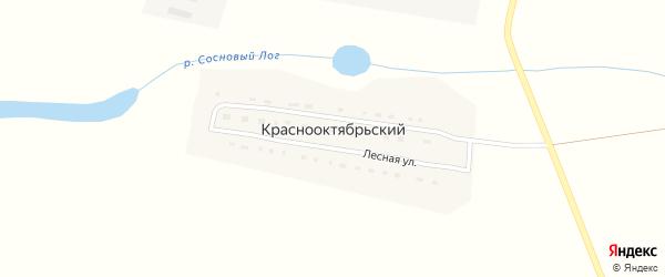 Лесная улица на карте Краснооктябрьского поселка с номерами домов