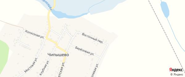 Восточный переулок на карте села Чипышево с номерами домов