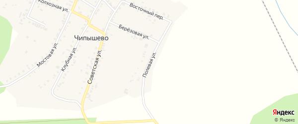 Полевая улица на карте села Чипышево с номерами домов