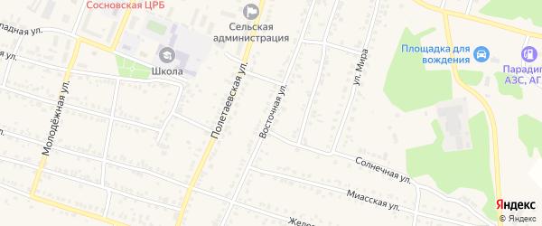 Восточная улица на карте поселка Полетаево с номерами домов