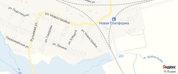 Переездный переулок на карте поселка Полетаево с номерами домов