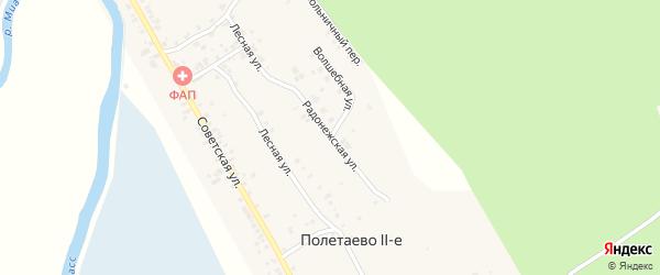Радонежская улица на карте деревни Полетаево 2-е с номерами домов