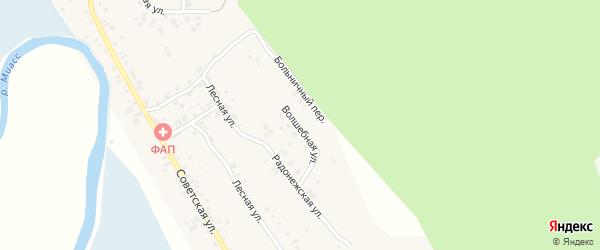 Волшебная улица на карте деревни Полетаево 2-е с номерами домов