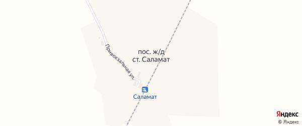 Южная улица на карте поселка Саламат с номерами домов