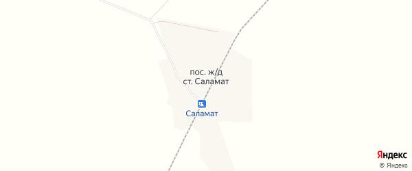 Карта поселка Саламат в Челябинской области с улицами и номерами домов