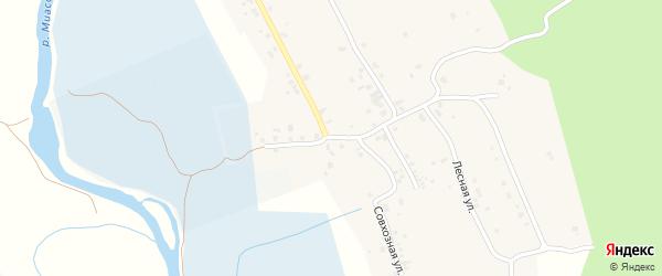 Совхозная улица на карте деревни Полетаево 2-е с номерами домов