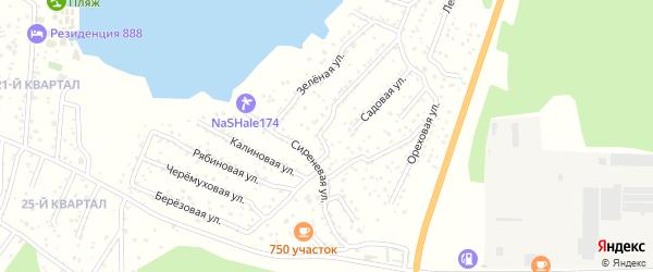 Территория ГСК Чайка на карте Челябинска с номерами домов