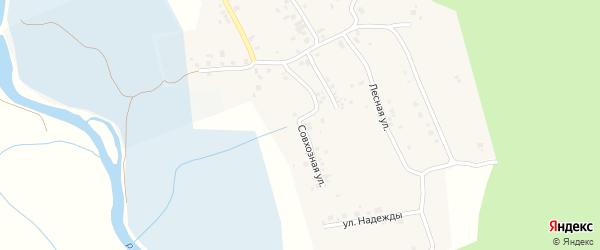 Совхозная улица на карте поселка Смолина ж-д. ст. с номерами домов