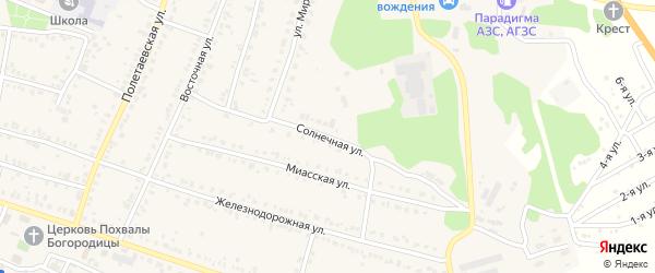 Солнечная улица на карте поселка Полетаево с номерами домов