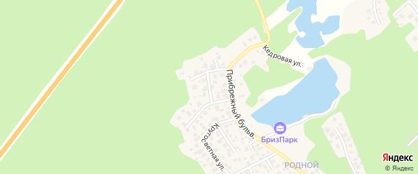 Улица Рыбацкий проезд (мкр Родной) на карте села Кременкуль с номерами домов