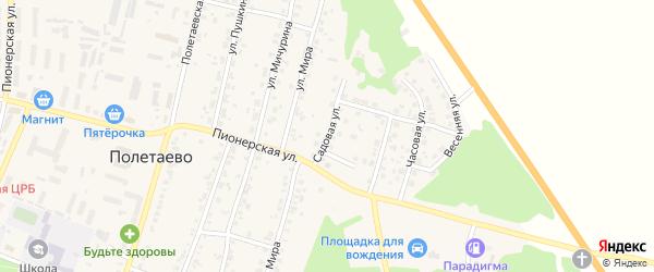 Садовая улица на карте поселка Полетаево с номерами домов