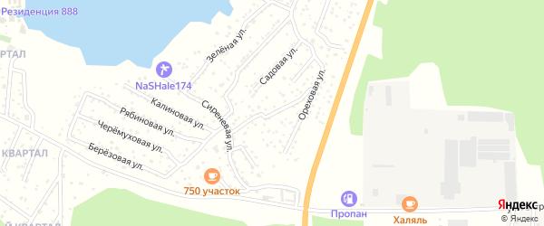 Улица Цветочная (мкр Родной) на карте села Кременкуль с номерами домов