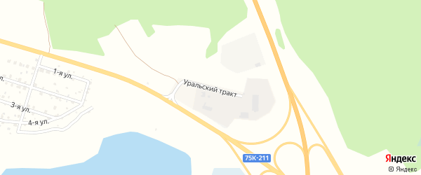 Уральский тракт на карте села Кременкуль с номерами домов