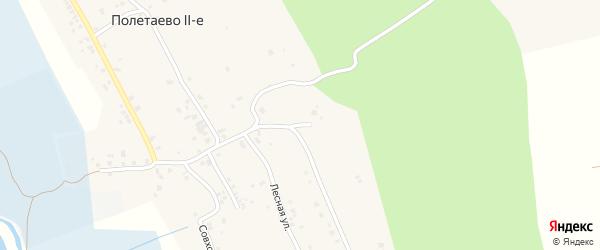 Малиновая улица на карте деревни Полетаево 2-е с номерами домов
