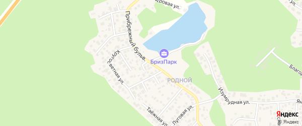 Улица Прибрежный бульвар (мкр Родной) на карте села Кременкуль с номерами домов