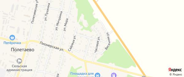 Жемчужная улица на карте поселка Полетаево с номерами домов