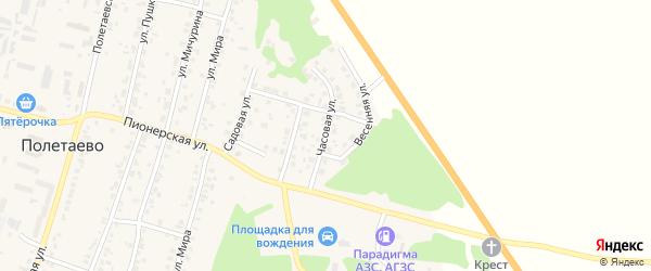 Часовая улица на карте поселка Полетаево с номерами домов
