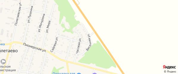 Весенняя улица на карте поселка Полетаево с номерами домов