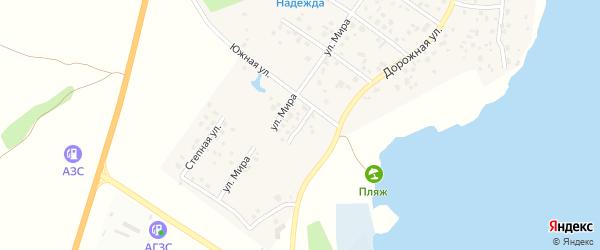 Благополучная улица на карте села Кременкуль с номерами домов