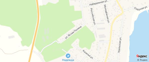 Улица Ясная (мкр Родной) на карте села Кременкуль с номерами домов