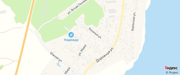 Улица Мира на карте села Кременкуль с номерами домов