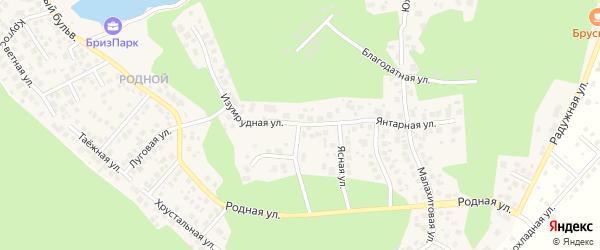 Улица Изумрудная (мкр Родной) на карте села Кременкуль с номерами домов