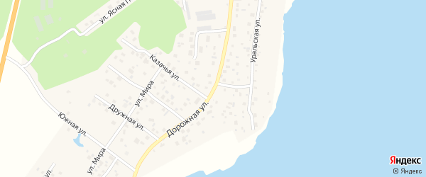 Дорожная улица на карте села Кременкуль с номерами домов