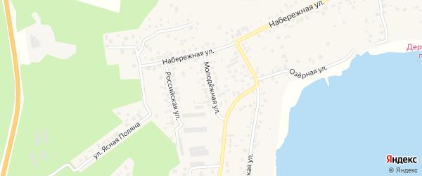 Молодежная улица на карте села Кременкуль с номерами домов