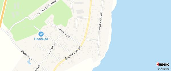 Дорожная улица на карте разъезда Серозака с номерами домов